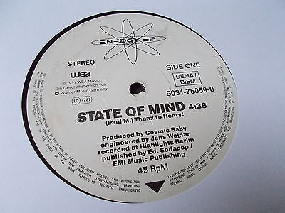 """Energy 52 State Of Mind 12"""" WEA 1991 9031-75059-0"""