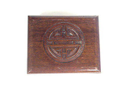 Vintage Carved Wooden Asian Oriental Trinket/Jewelry Box