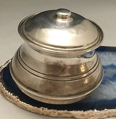 Solid Sterling Silver SMALL Sugar Bowl with Lid Hallmarked Made in Italy -L298