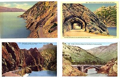 WY - YELLOWSTONE; Cody Road - Tripple Tunnels, Shore Dr, Bridge SHOSHORE CANYON