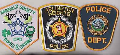 Arlington Heights, Jonesboro Police & Chicago Pipes & Drums patches