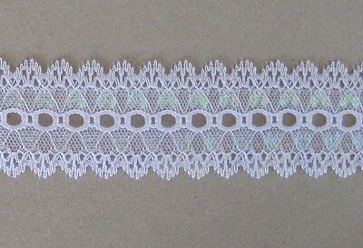 CRAFT-SEWING 5mtrs x 35mm Variegated Knitting Eyelet (colour variations listed)