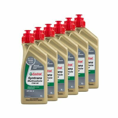 6 Litres Castrol Syntrans Multivehicle 75W90 API GL4 Fully Synthetic Gear Oil