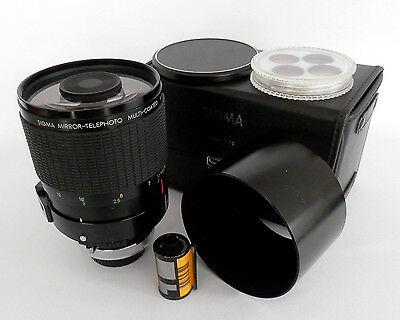 Superb Sigma 600mm F8 MUlti-Coated Mirror Lens Outfit in Canon FD Mount