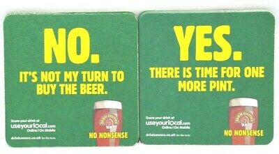 "JOHN SMITHS  BIERE 6 Sous-bock sous-verre carton ""Yes there is No it's not"" NEUF"