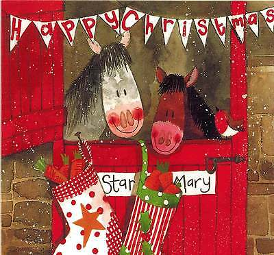 Alex Clark Art Stable Buddies Christmas Cards Set Of 10 Cards