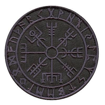 Vegvisir Viking Compass dark ACU embroidered tactical morale hook&loop patch