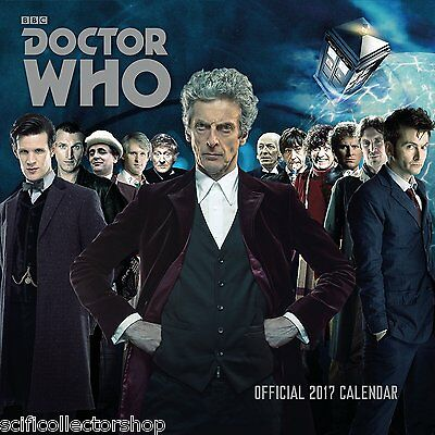 Doctor Who Classic Edition Official 2017 Wall Calendar - Sent fast!