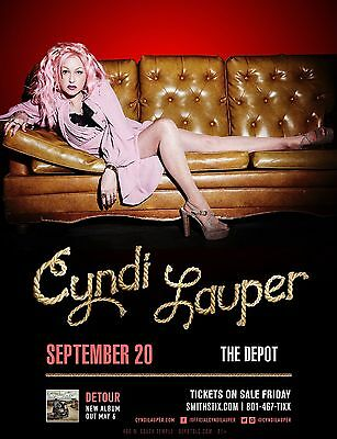 CYNDI LAUPER 2016 SALT LAKE CONCERT TOUR POSTER-Pop,Rock,New Wave,Synthpop,Blues
