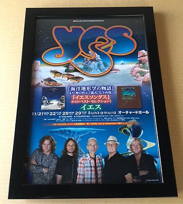 2016 Yes JAPAN concert tour flyer mini poster / FRAMED / Japanese MINT photo