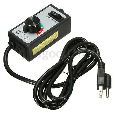 120V Variable Fan Speed Controller Router Stepless Dimmer Acoustic Box Fan Motor