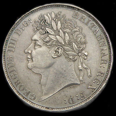 KING GEORGE  IIII 1821 Secundo Crown Superb condition About UNC Reduced by £200