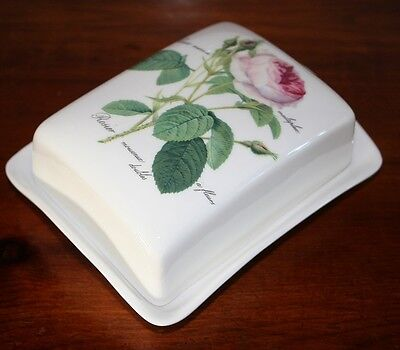 Roy Kirkham Redoute Rose Butter Dish Quality Selected Seconds Fine Bone China