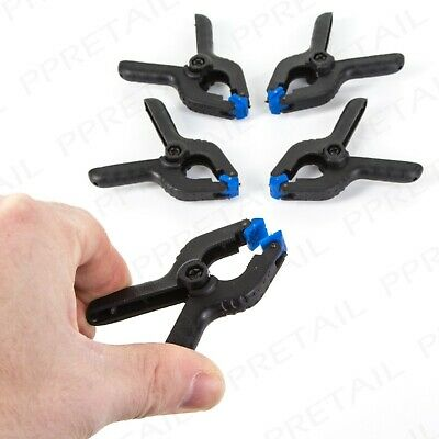 PACK OF 5 SILVERLINE 60mm MINI SPRING CLAMPS Clip/Wood Work/Craft Projects Small