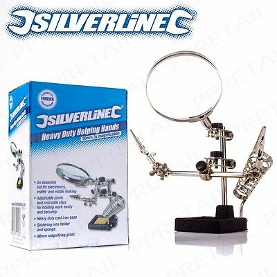 FULLY ADJUSTABLE HEAVY DUTY HELPING HAND Soldering Circuit Board Clamp Holder