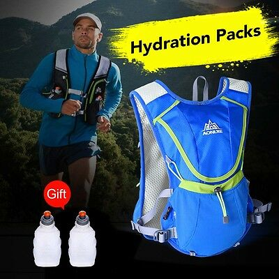 Hydration Pack Backpack Bag With Water Bladder For Running/Cycling Gym Sports UK