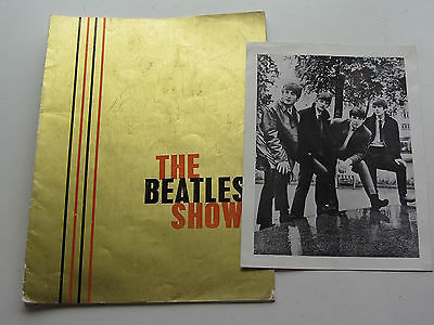 The Beatles Show 1963 Uk Tour  Programme Gold Cover With  Photo