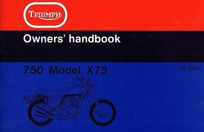 Triumph Hurricane X75 Owner's Handbook USA Triple 1974 Original Book NOS Manual