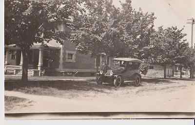 Man Posing With Automobile RPPC 1910 - 1920 Vintage Unused Postcard