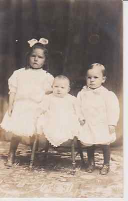 Well Dresses Formal Children RPPC 1910 - 1920 Vintage Unused Postcard