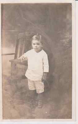 4 Year Old Boy RPPC 1910 - 1920 Vintage Unused Postcard