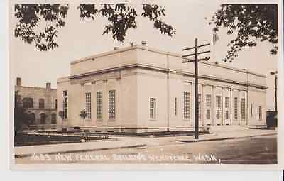 Federal Building Wenatchee WA RPPC 1910 - 1920 Vintage Unused Postcard
