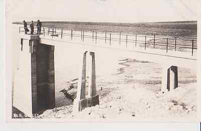 Men On Lake Pier RPPC 1910 - 1920 Vintage Unused Postcard