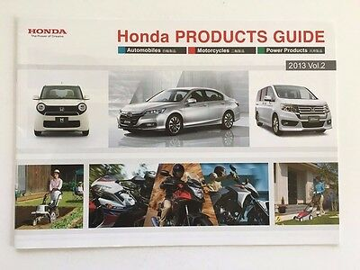 2013 Honda Product Guide Brochure - Accord Life FIT Freed CRZ Insight N One