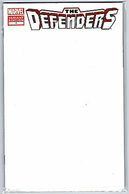 THE DEFENDERS #1  Blank Variant Cover                       / 2012 Marvel Comics