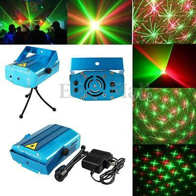 AUTO LED Mini Projector R&G DJ Light Stage Xmas Party Laser Lighting Show Lamp
