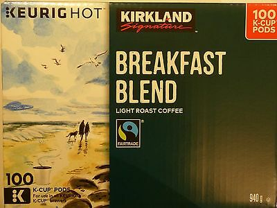 Kirkland Signature Breakfast Blend Coffee 100 K-Cup Pods New Fresh Sealed Canada