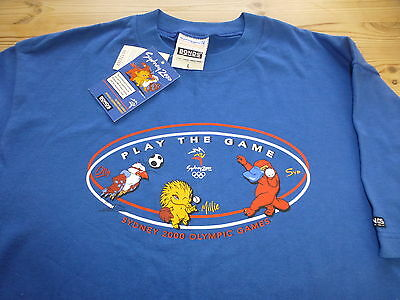 Sydney 2000 Olympic Games Official 100% Cotton T-Shirt Top Large *bnwt*