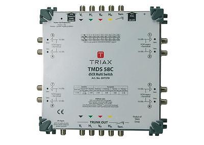 Triax TMDS DSCR Digital SCR Multiswitch for SkyQ 8 Output With Power Supply