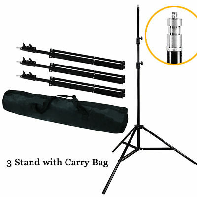 3 x 7ft Photography Light Stand Tripod with Carry Bag for Photo Studio Lighting