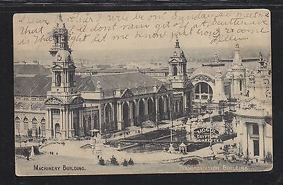Usa 1904 St Louis World's Fair Postcard Machinery Building Used St Louis