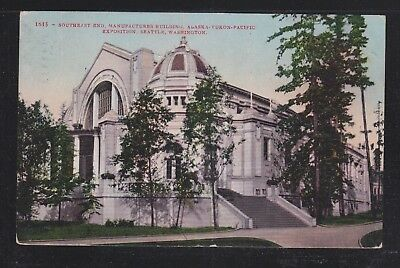 Usa 1909 Yukon-Pacific Exposition Postcard Manufacturers Building Used Illinois