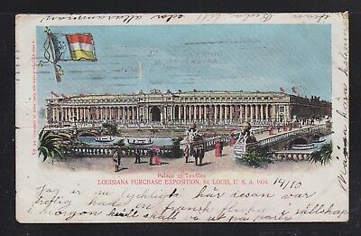 Usa 1904 Louisiana Purchase Exposition St Louis Postcard Palace Of Textiles Used