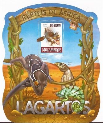 Mozambique - 2015 Lizards on Stamps - Stamp Souvenir Sheet - 13A-1632