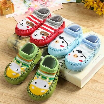 NewBorn Toddler Infant Cartoon Socks Non Slip Baby Children Kids Cotton Shoes