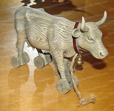 PULL TOY Cow (CowParade by Westland, 9130) Chicago, 2001