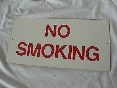 Old vintage mid century industrial workshop or factory NO SMOKING sign