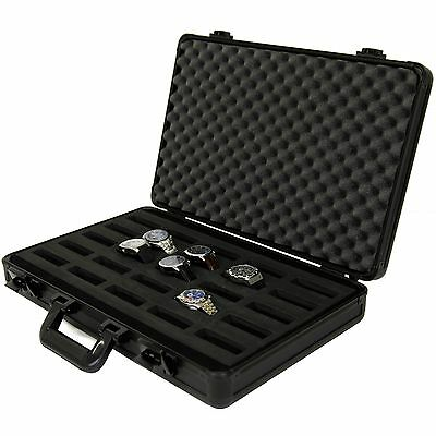 25 Watch Case for Collectors Briefcase Store Safe Aluminum Handle