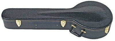 V-CASE Banjo Hard Shell Case Black *NEW* Foam padded, Fits most Banjo's
