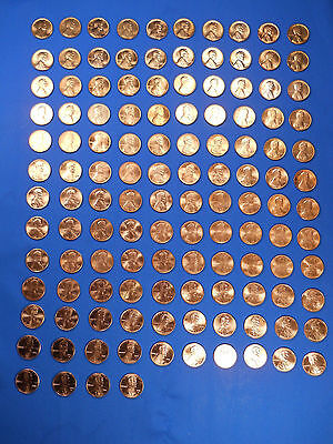 Lincoln Cent Penny Set 1959-2017 Collection (128 Coins) Choice BU Mem., Shield!