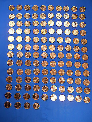 Lincoln Cent Penny Set 1953-2017 Complete 143 Coin Collection BU Wheat Shield !!