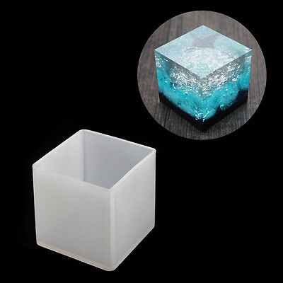Resin Silicone Square Jewelry Mold Pyramid Ornaments Handmade Making Tool Mould