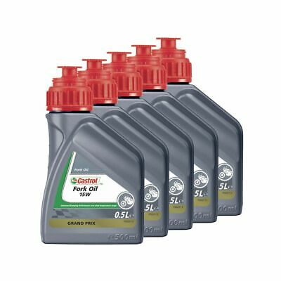 Castrol Motorcycle / Motorbike / MX Suspension Fork Oil 15W - 2.5L (5 x 500ml)