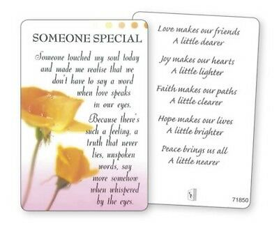 Someone Special - Friend Friendship - Laminated Verse Prayer Card Others Listed