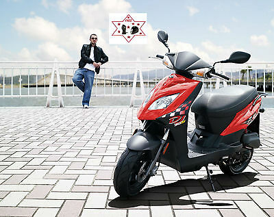 KYMCO dj 50s scooter,120 mpg,2 yrs warranty,4 stroke,cheap to run.4% FLAT RATES