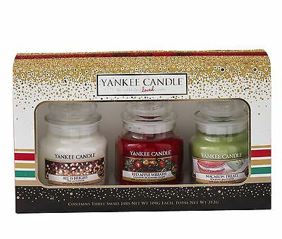 Yankee Candle Holiday Party 2016 3 Small Jar Festive Gift Set 1521565